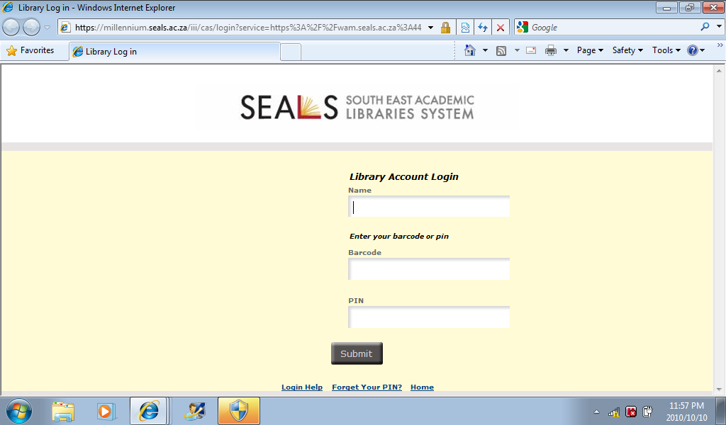 How to login from off-campus - Library and Information Services